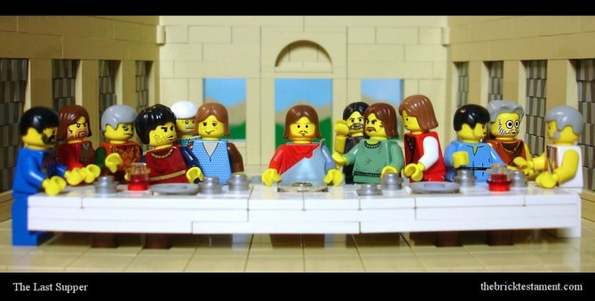 The Brick Testament Last Supper